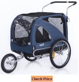 Sepnine 2 in1 large pet dog bike trailer bicycle trailer and stroller jogger 10202