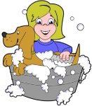 Puppy in Bath Tub